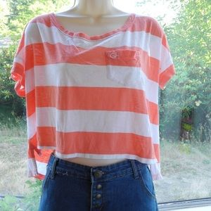 Gilly Hicks Striped Crop tee